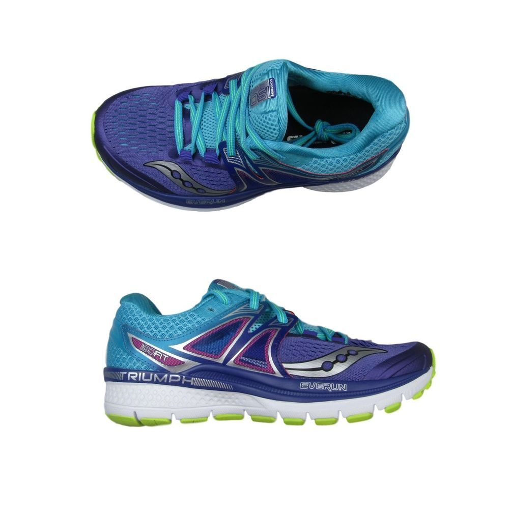 05c18e43985f Saucony Triumph ISO 3 Running Shoes Size 6.5 Womens Purple Blue Citron  S10346-1  Saucony  RunningShoes