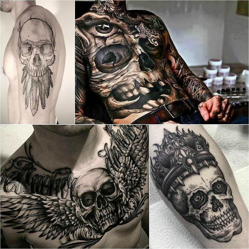 200 Skull Tattoos For Men Women Threatening Design Tattooforfans Com Skull Tattoos Tattoos For Guys Tattoos