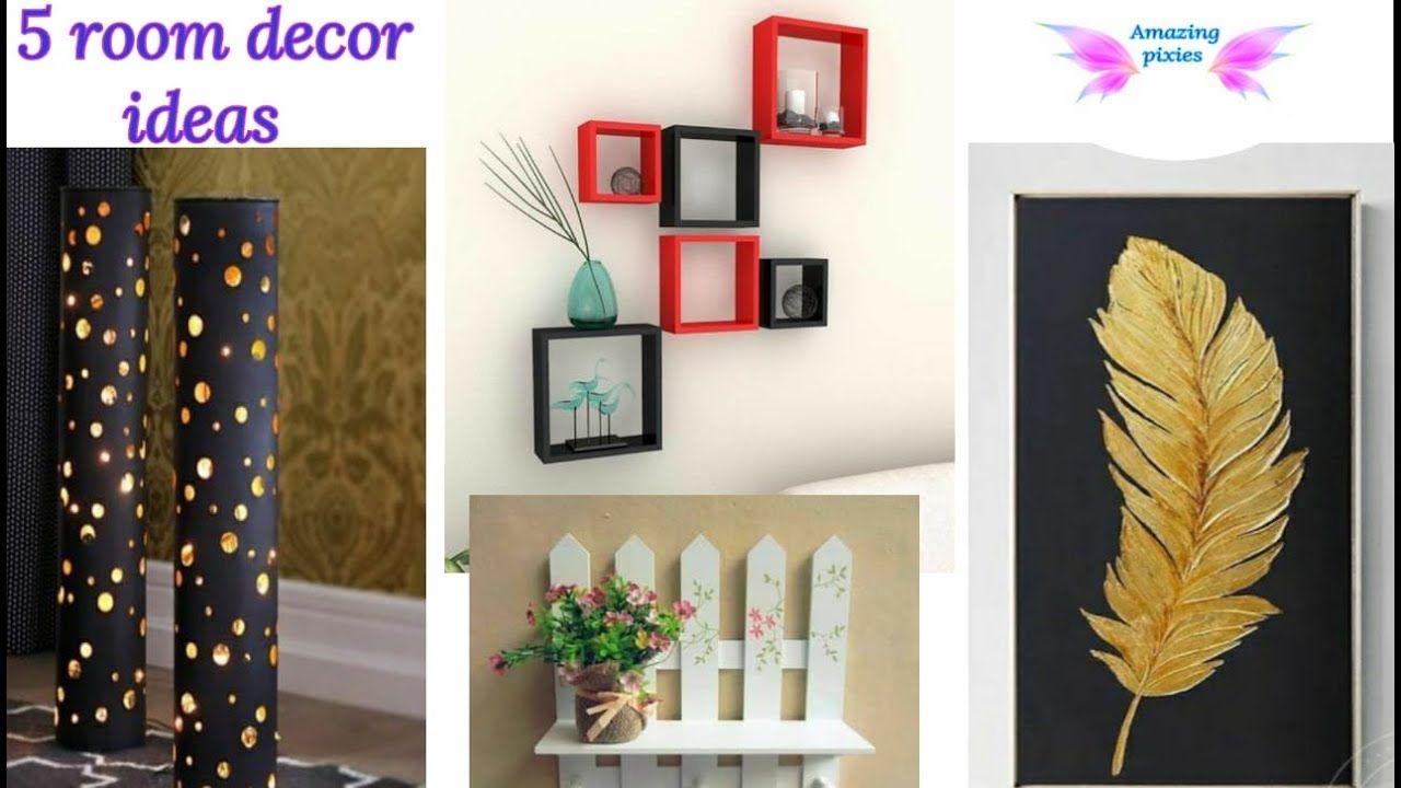 5 Home Decor Ideas Diy Crafts 5 Minute Crafts Craft Craft Ideas Room Ideas Amazing Pixies Youtu In 2020 Diy Crafts 5 Minutes Decor Crafts Diy Wall Artwork