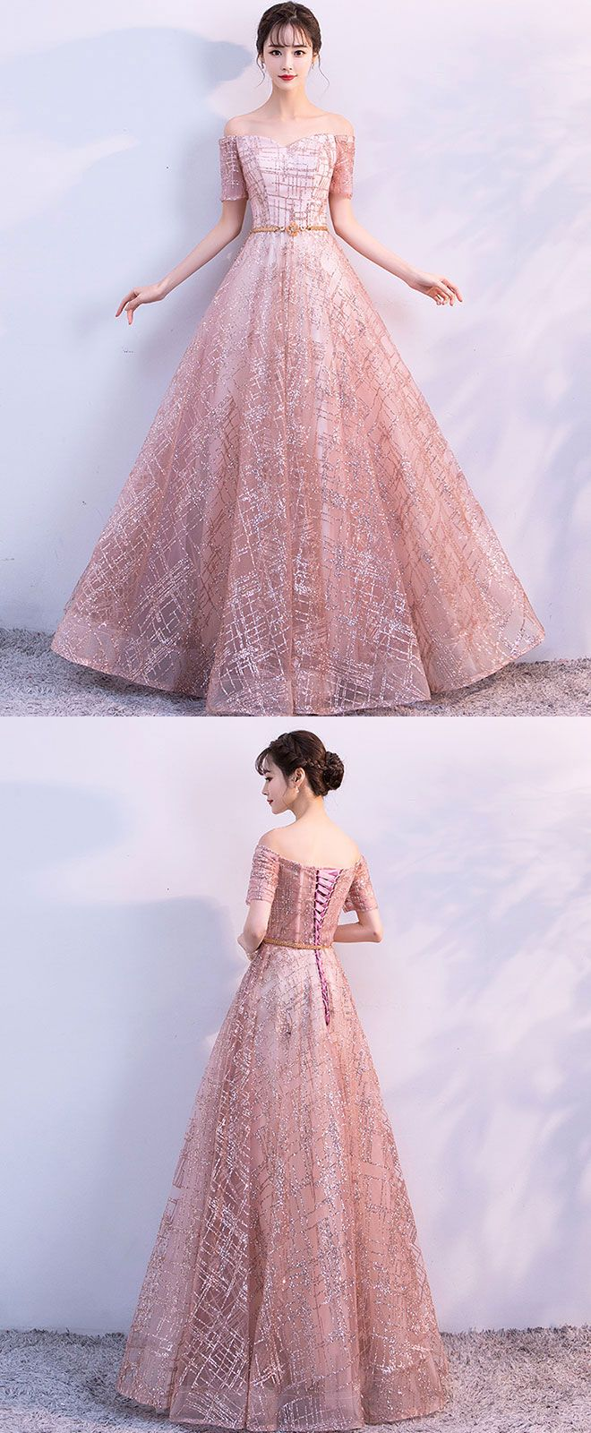 Beautiful tulle long prom dress evening dress long prom dresses