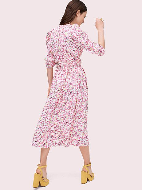 911b32ddb2c2 Kate Spade Marker Floral Devore Dress, French Cream - Size 8 ...
