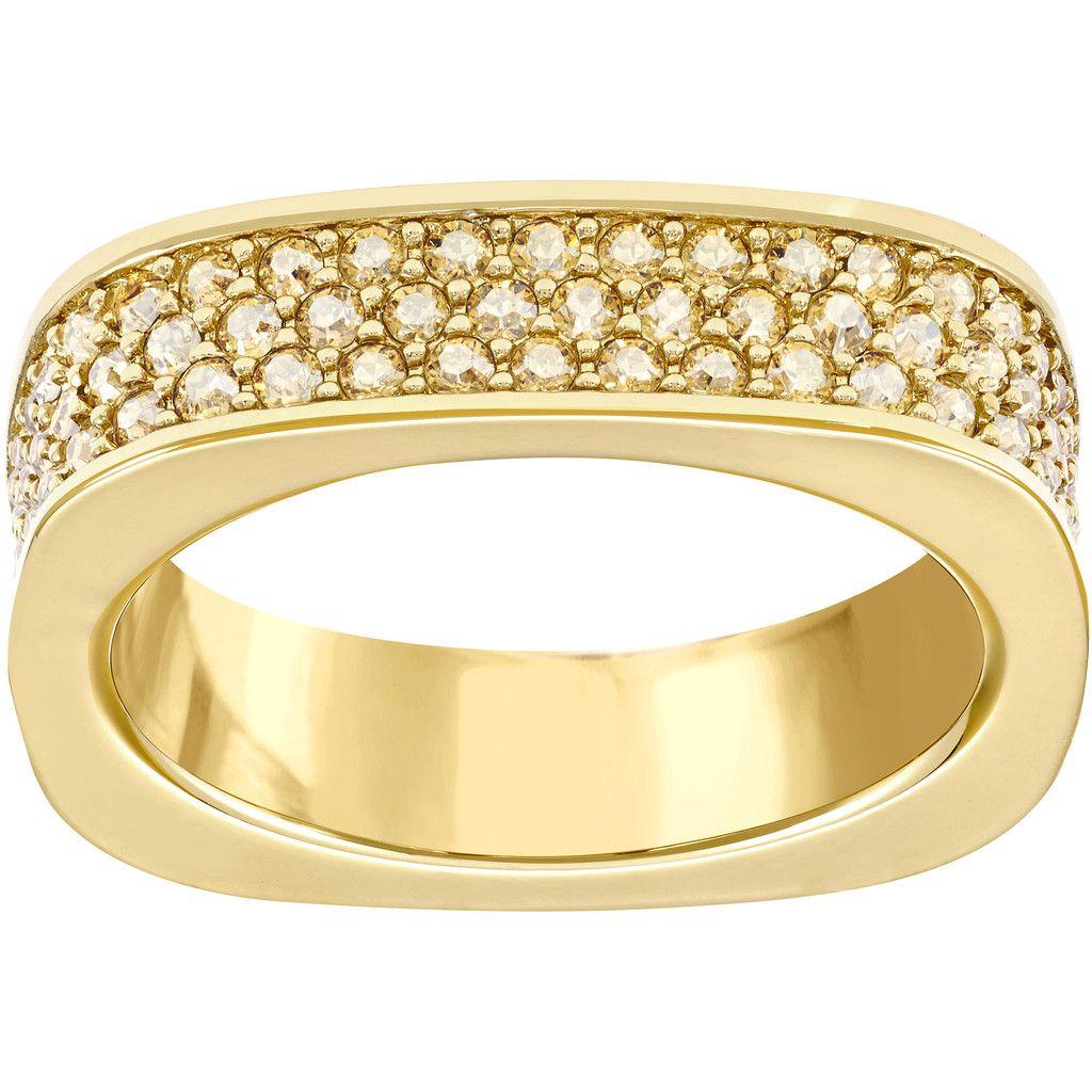 cf6508b65e0ed SWAROVSKI VIO RING SIZE 55, GOLD PLATED 5112139 | Duty Free Crystal ...