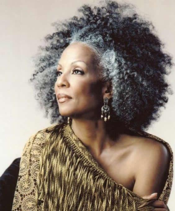 beautiful silver haired black women