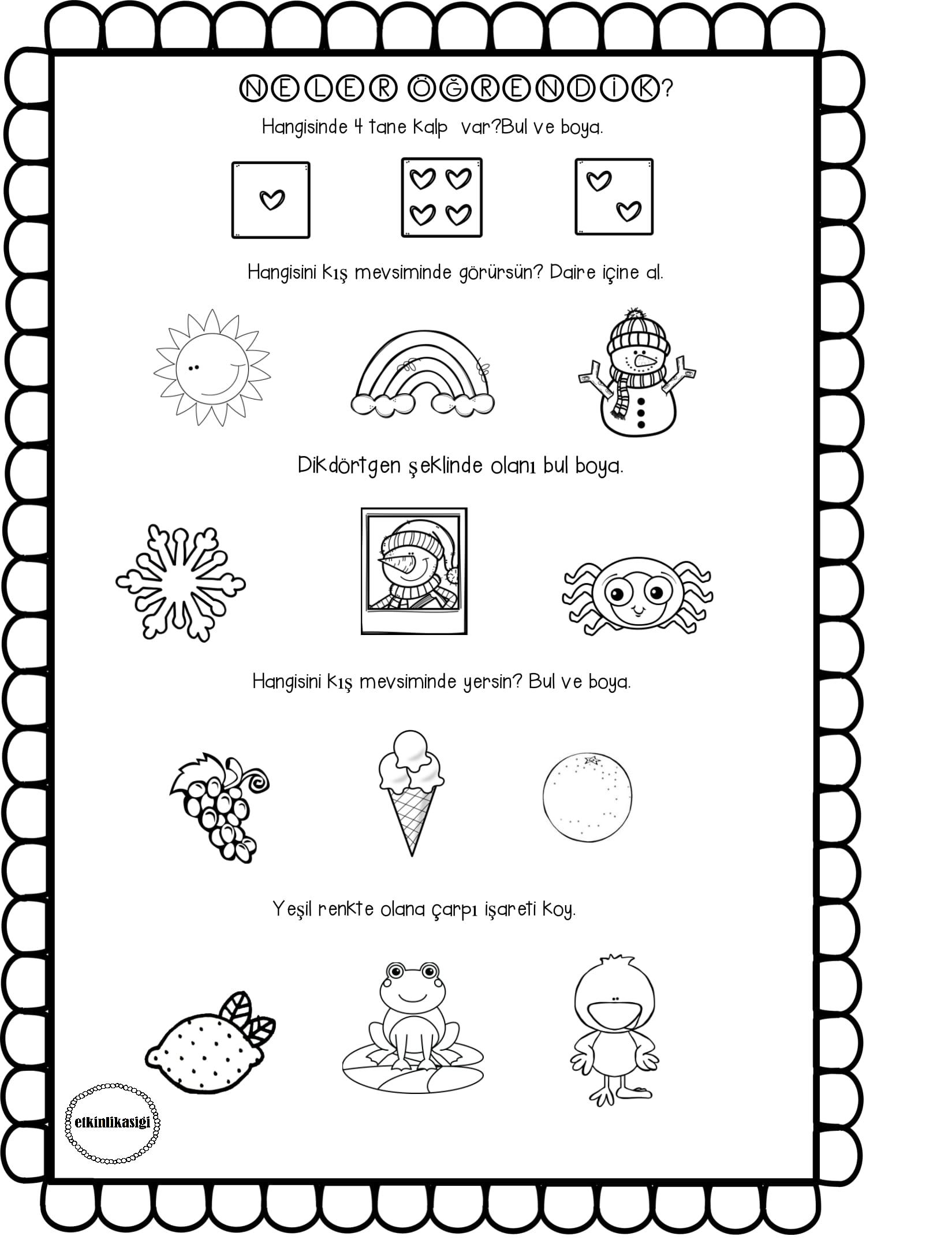 Genel Tekrar Etkinlikasigi Working Pages Pinterest Education