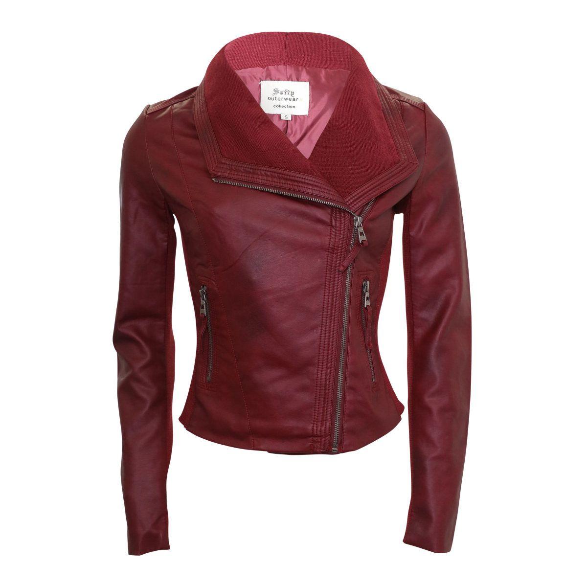 My Softy Side Zip Pu Jacket Burgundy Coats Jackets Women Womens Fashion Jackets Jackets [ 1200 x 1200 Pixel ]