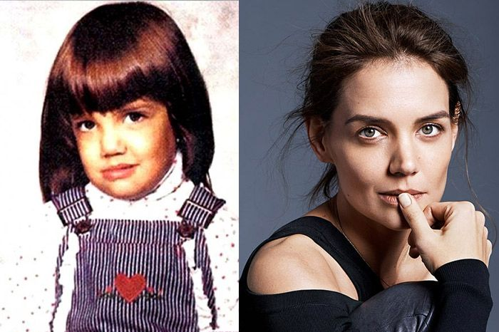 Katie Holmes It's hard to talk about Tom Cruise and not mention his former flame, Katie Holmes. Like Tom, Katie wasn't the best loing baby during her youth. She is not ugly but she was a little droopy loing for our taste. However this article proves that however your baby los, it's not a determining factor …