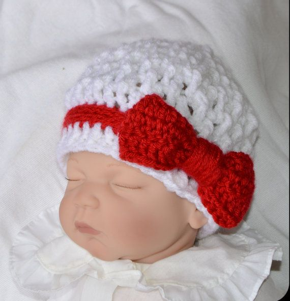 Photo of Baby Girl Christmas Hat – newborn hat –  Crochet Beanie –  Crochet Baby girl Hat – Willow beanie – photography prop