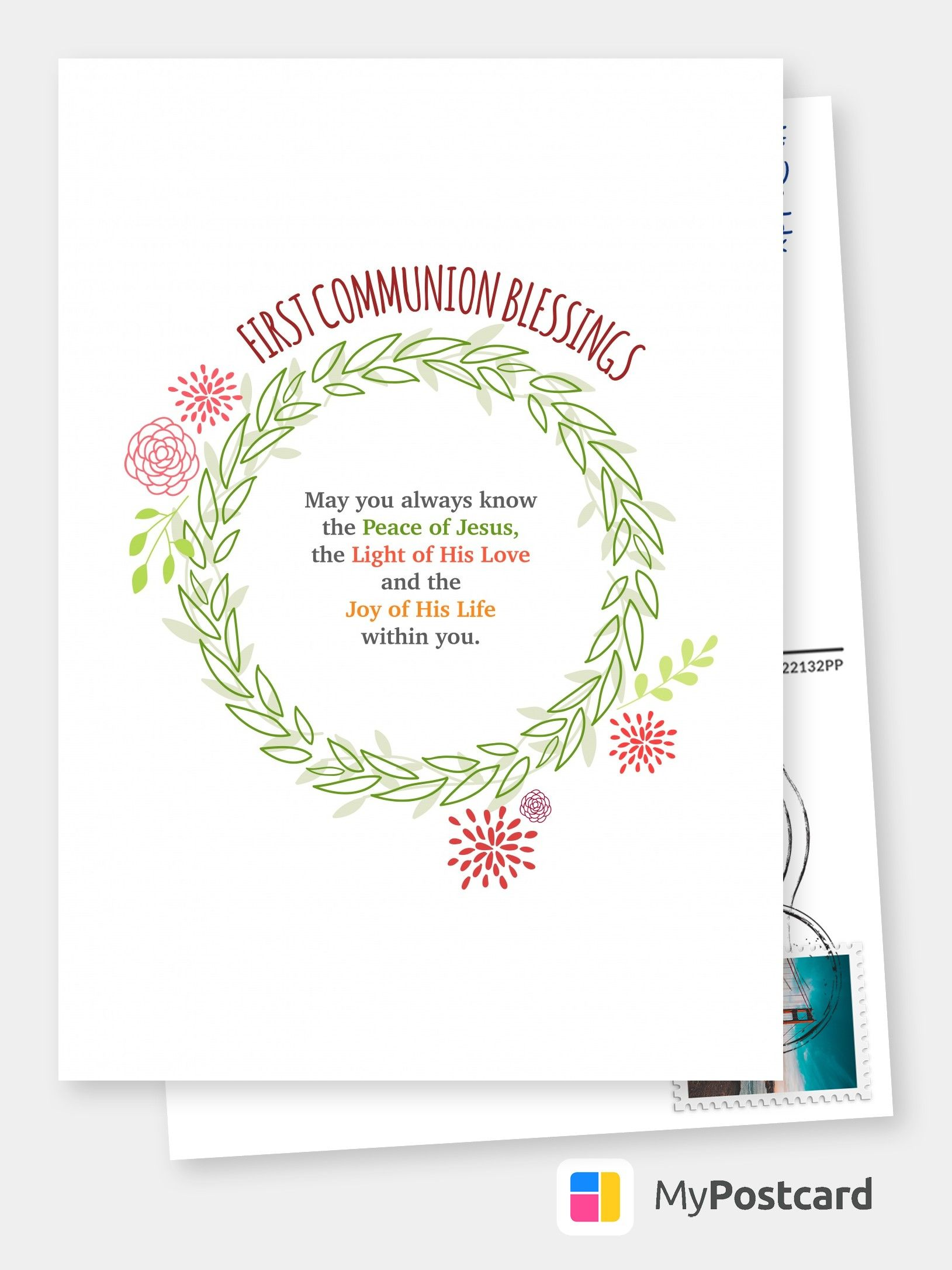 First communion blessings communion cards send real