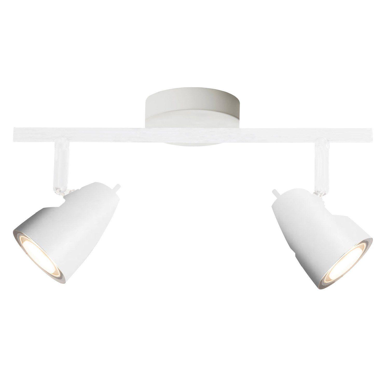 Rampe 2 Spots Design Nano 2 Xled Integree Blanc Brilliant Ceiling Lights Track Lighting Design