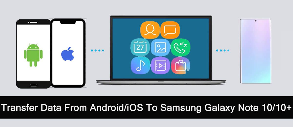 Transfer Data From Android or iOS To Samsung Galaxy Note