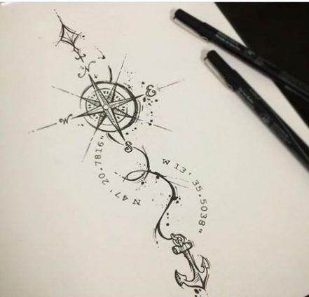 anchor compass tattoo tatoo 52+ ideas