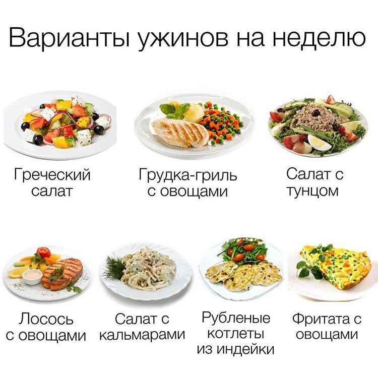 Вариант обеда для похудения