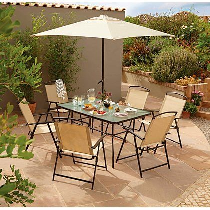 Miami 8 Piece Patio Set Garden Furniture George At Asda Home