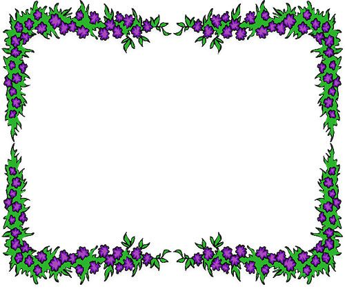 purple flowers border digital frames borders die cuts rh pinterest com Free Vintage Clip Art Flower Fancy Christmas Clip Art