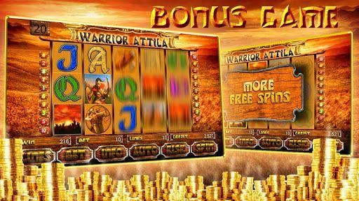"""Грохот копит, лязг доспехов, боевые кличи вошли в основу игрового автомата """"Warrior Attila slot"""". Великий правитель гуннов Аттила, на этот раз поведет Вас завоевывать богатства и земли. <br>В игре доступна риск игра для умножения выигрышей и бонус игра - для пополнения богатств.<br>Приятной Вам игры! Надеемся Вам понравится!  http://Mobogenie.com"""