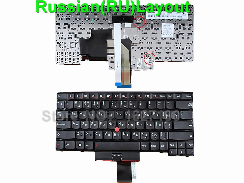 RU/Russian Laptop Replacement Keyboard for ThinkPad E430 BLACK ...