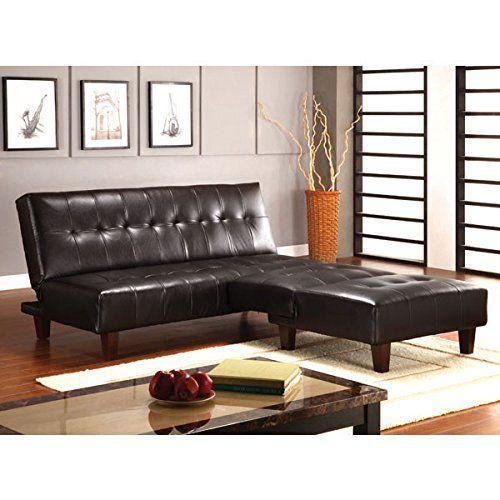 Best Belmont Espresso Leatherette Finish 2Piece Sofa Bed Futon Set Furniture Living Room Sets 400 x 300