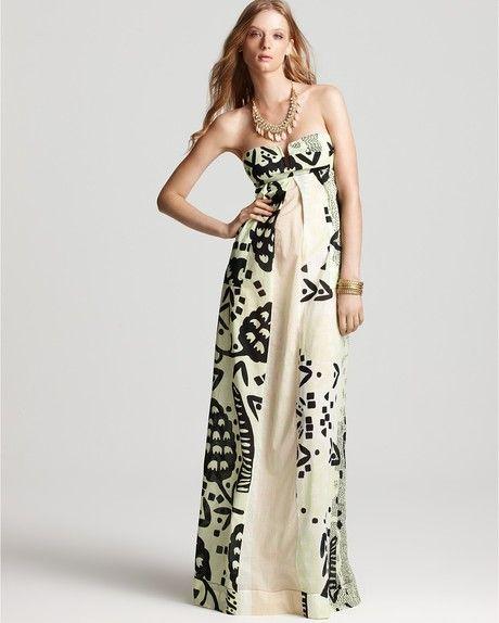 Diane Von Furstenberg Krystle Printed Linen Maxi Dress in White (grape vine patch pale pink) - Lyst
