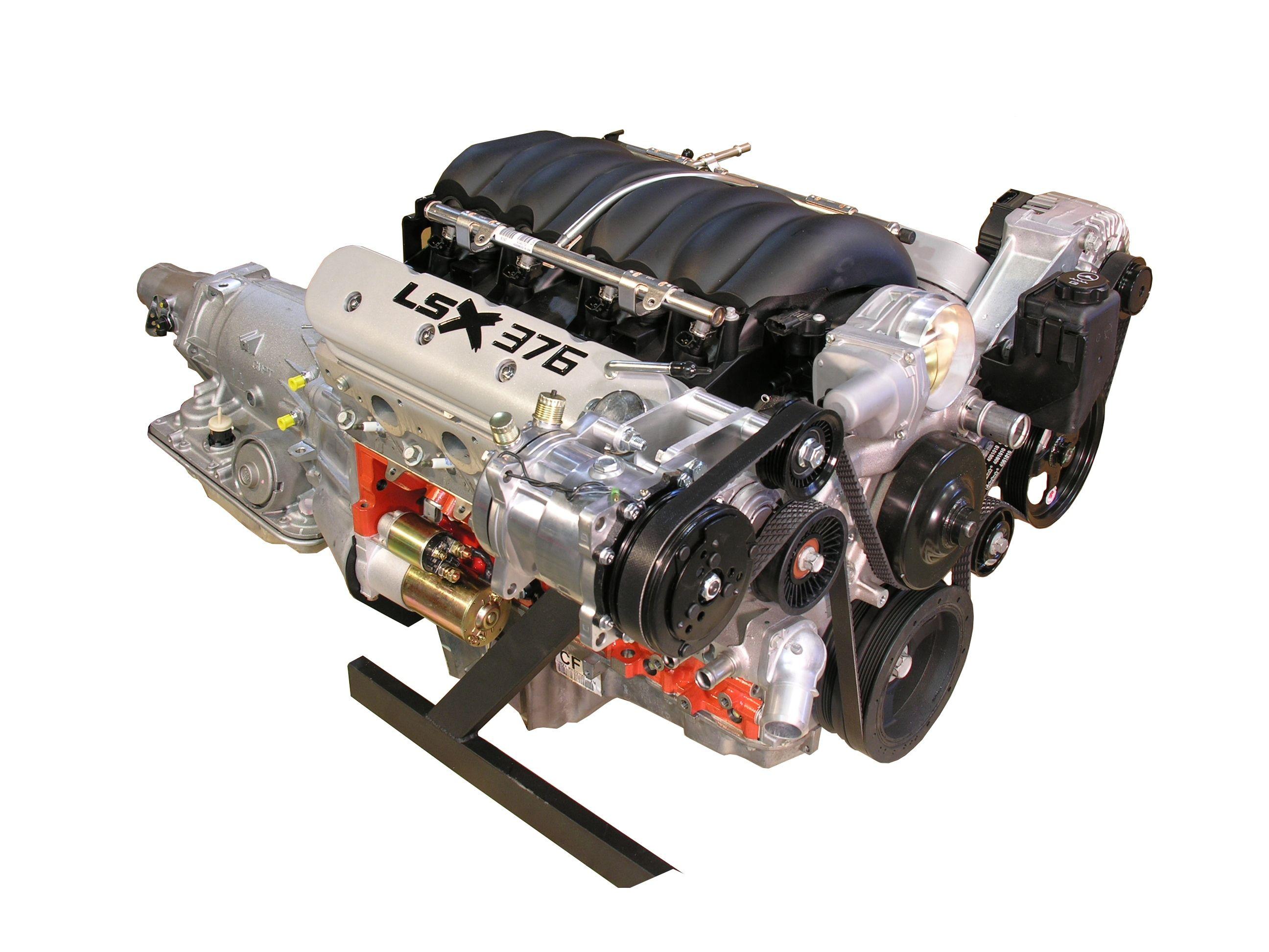 LSx 376 Engine with 4L70E Transmission - 600 HP - spsengines com