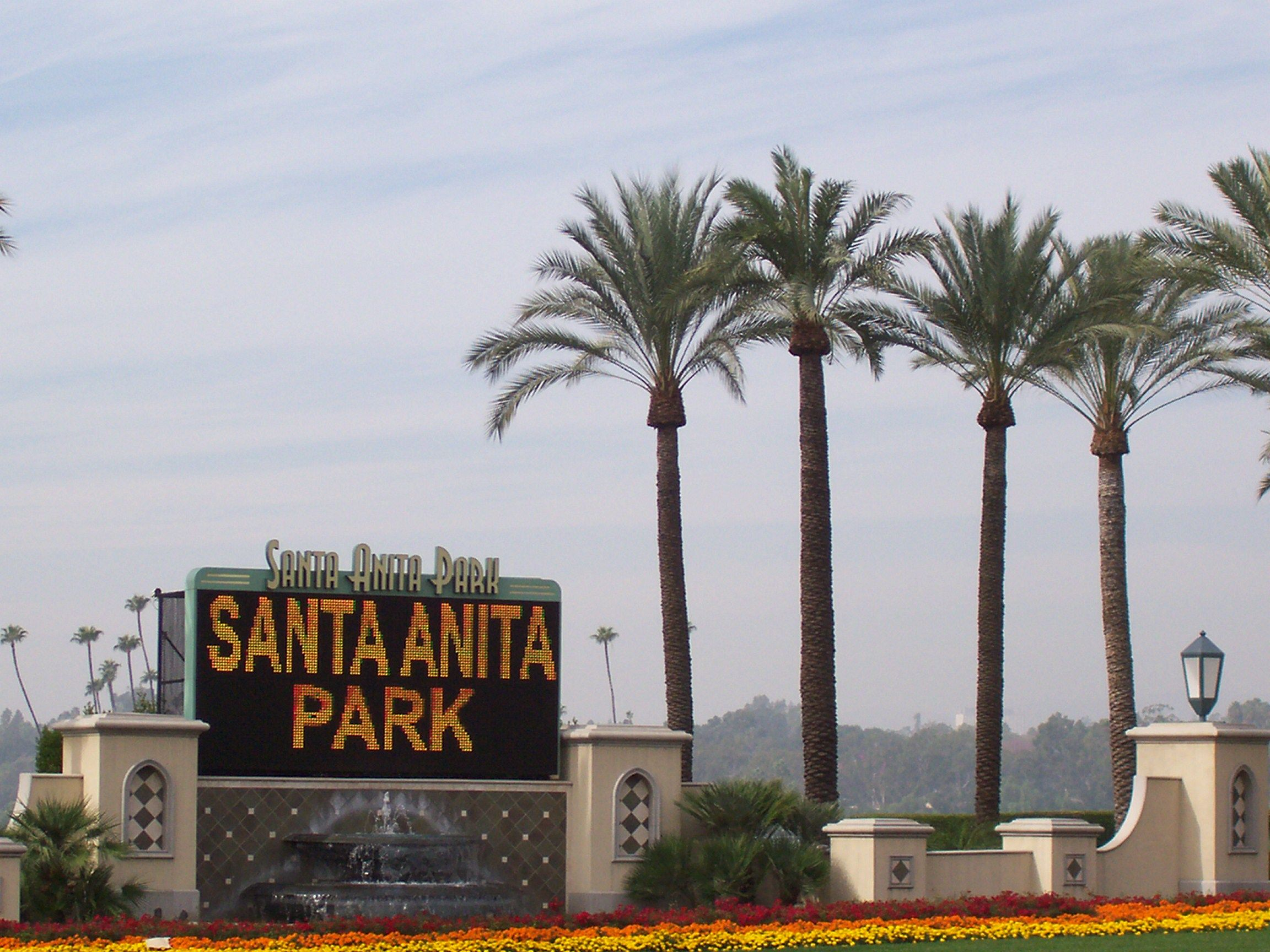 Santa Anita Race Track Gate 5 Entrance Off Huntington
