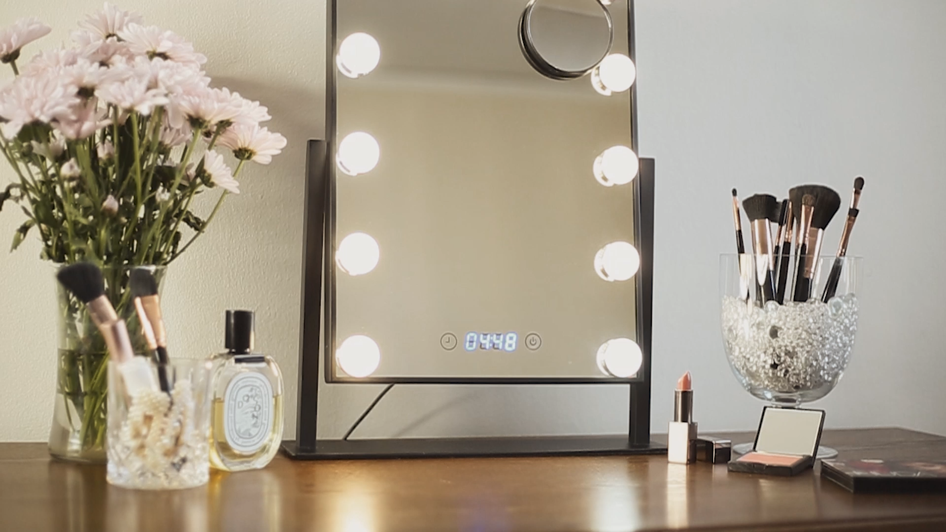 Black Vanity Mirror with 10x Magnification -   16 makeup For Teens mirror ideas