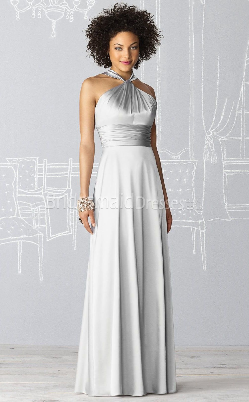 I was thinking long dresses would be too warm but pam said you all buy adorable greysilver bridesmaid dresses at kissydress online pick up this unique cheap simpleelegant a line halter empire floor length silver ombrellifo Images