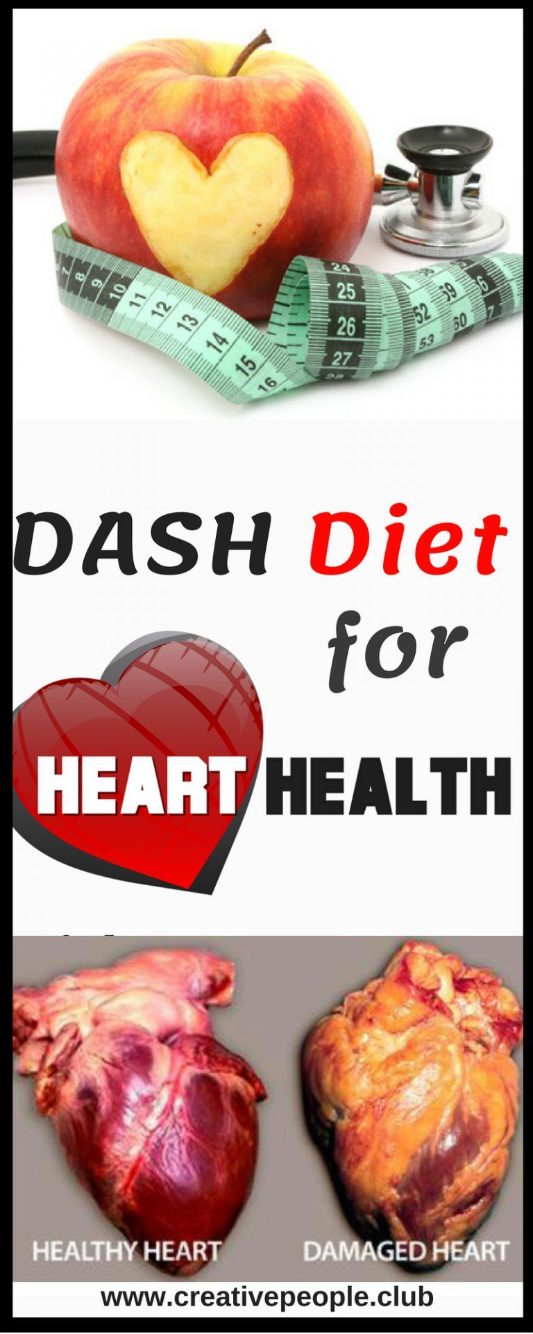 DASH Diet for Heart Health Creative People in 2019