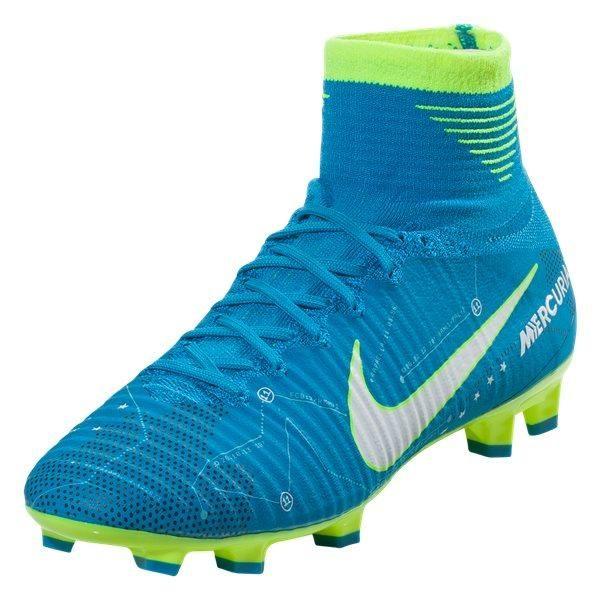 quality design ec081 f6552 Nike Jr. Youth Mercurial Superfly V NJR Neymar FG (Blue/Volt ...