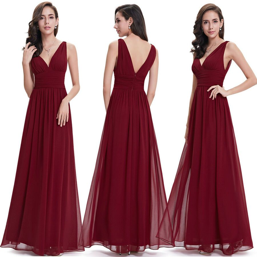 Ever-Pretty Long Formal Evening Wedding Bridesmaid Dresses Prom Party Ball Gown