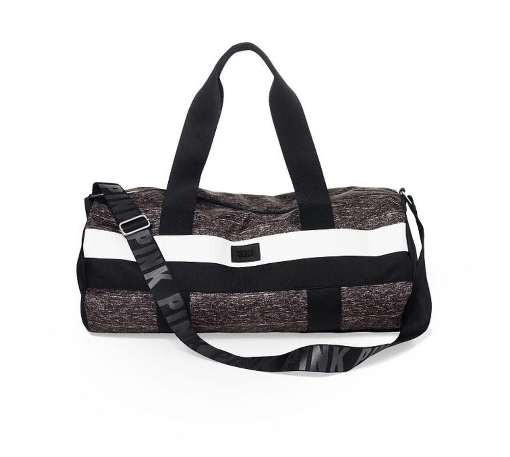 02b9ec0087a9 VICTORIA'S SECRET PINK GYM DUFFLE BAG Gray Marl - NWT!!! in Clothing ...