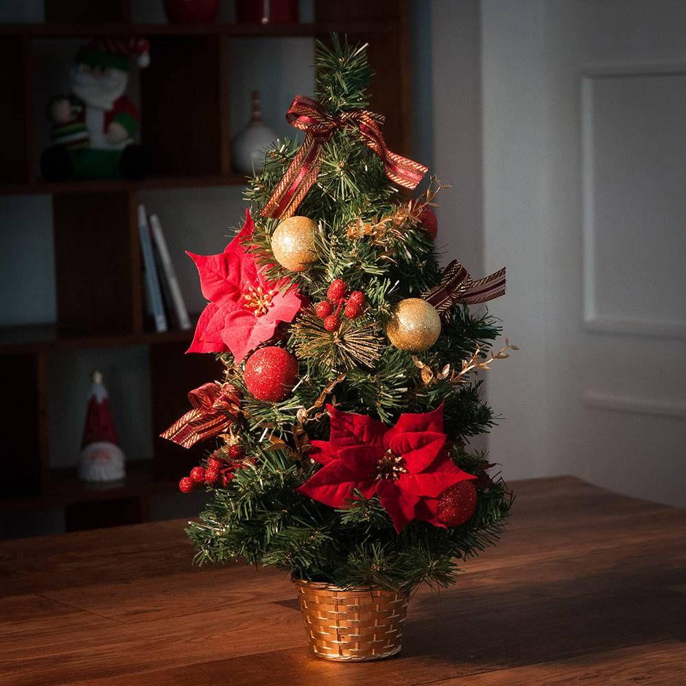 Arvore De Mesa Luxuosa 60cm Orb Christmas Americanas Com