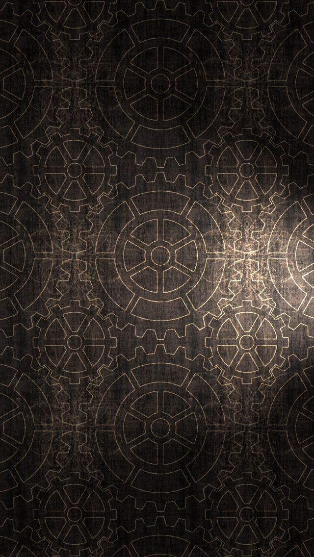 Gears pattern background iPhone 5s Wallpaper Geometric