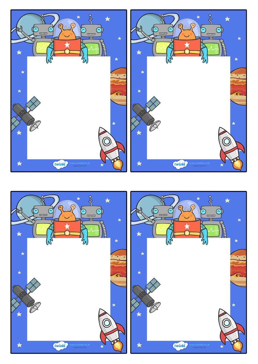 Kindergarten classroom decoration printables - Twinkl Resources Editable Note From Teacher Space Themed Classroom Printables
