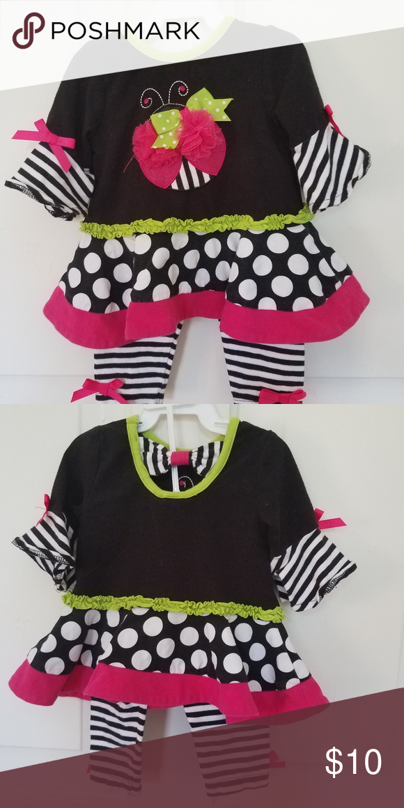 2f8899c8ff874 Baby girl outfit Fun And super cute on. Gently used. Bought from Dillards. Rare  Editions Matching Sets