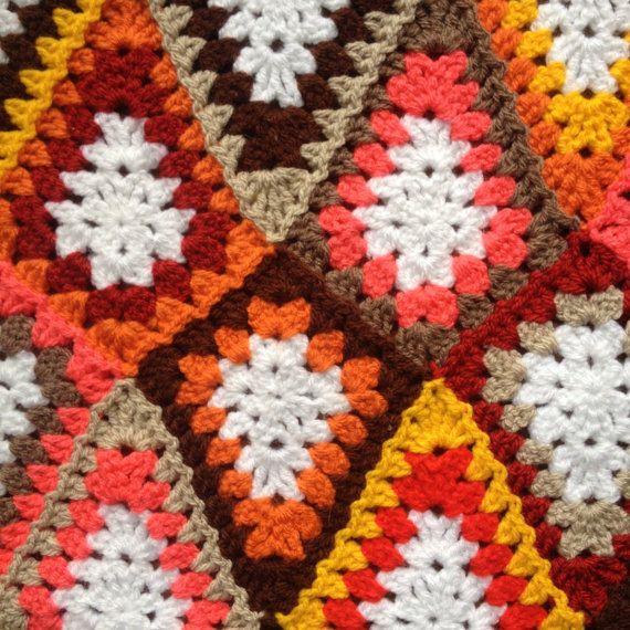 pattern: Granny Diamond   Gehäkelte decken, Polster und Häckeln