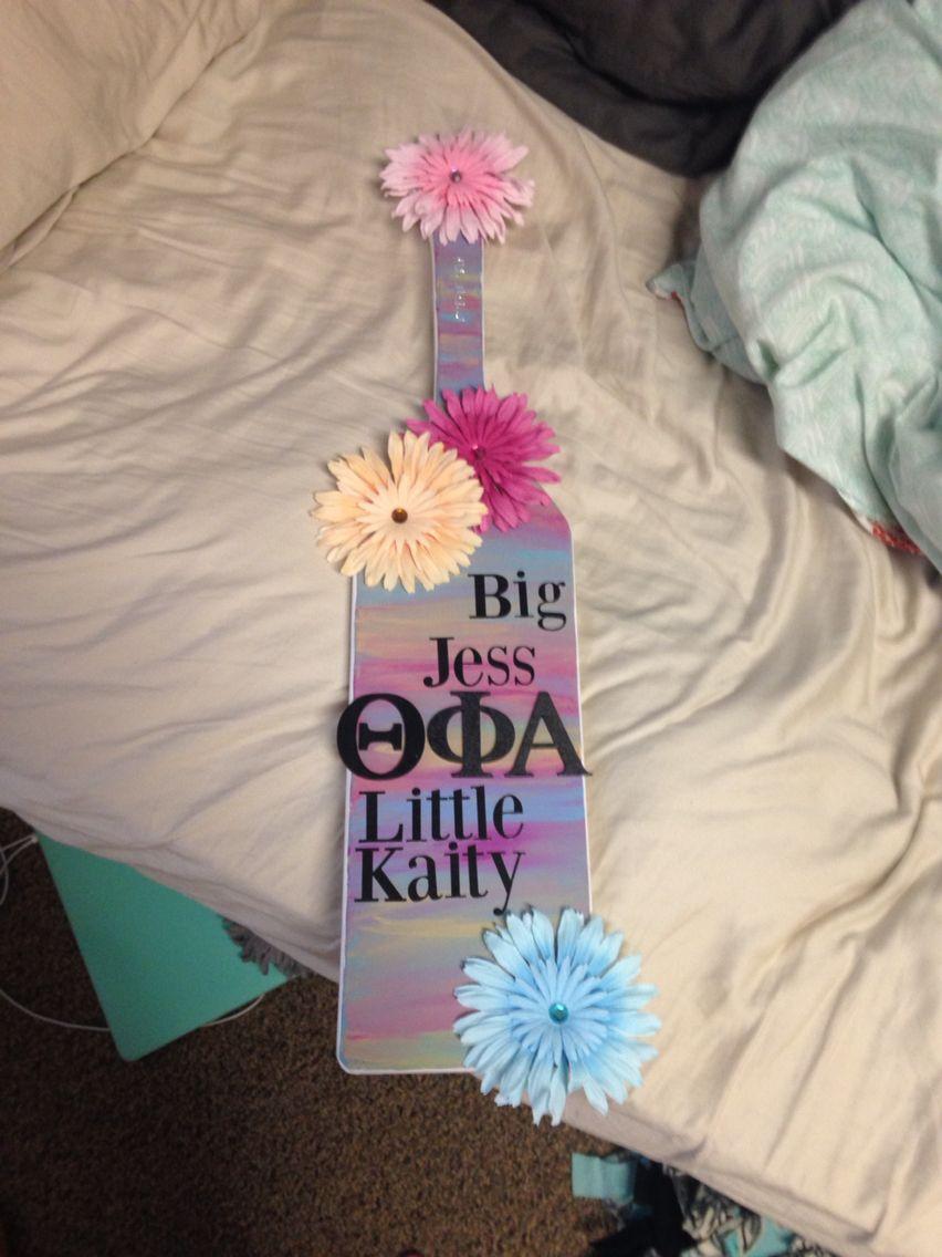 Paddle I made for my bigs 21st #paddle #sorority #thetaphialpha #theta #sororitysugar