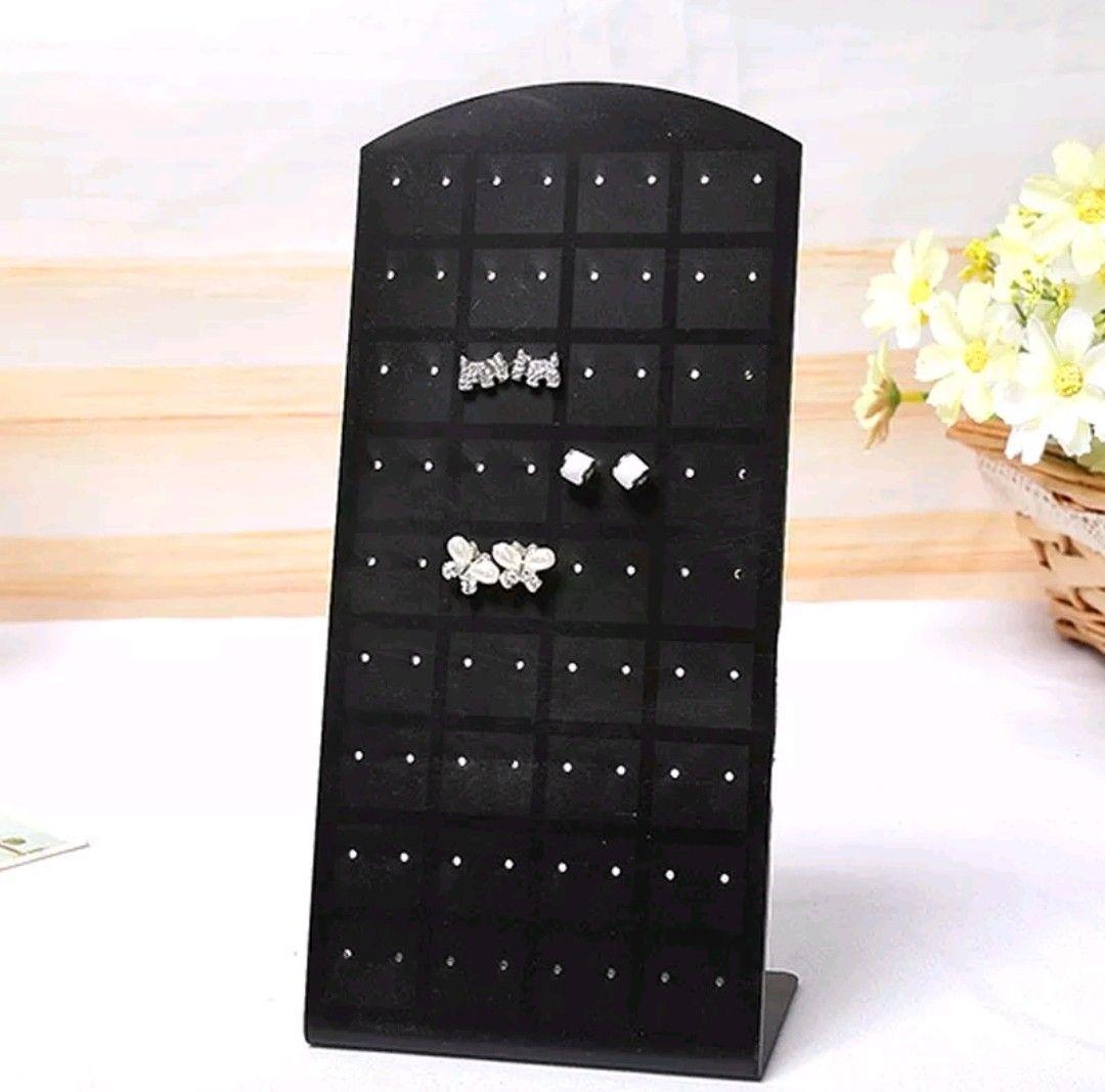72 Hole Earring Stud Display Shelf Jewelry Displaying Stand Acrylic Holder 48