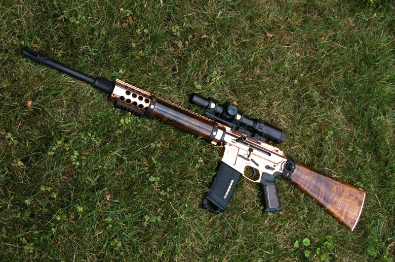 Copper Plated Ar 15 Built From Scratch Http Www
