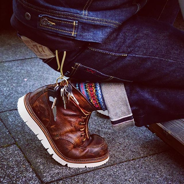 8f932dee80d  resoled this  redwing  heritage with a  vibram  gloxicut 4 my brother from  another mother  fadedblueeyes 👊  redwingshoes  patina  leather   leatherwork ...