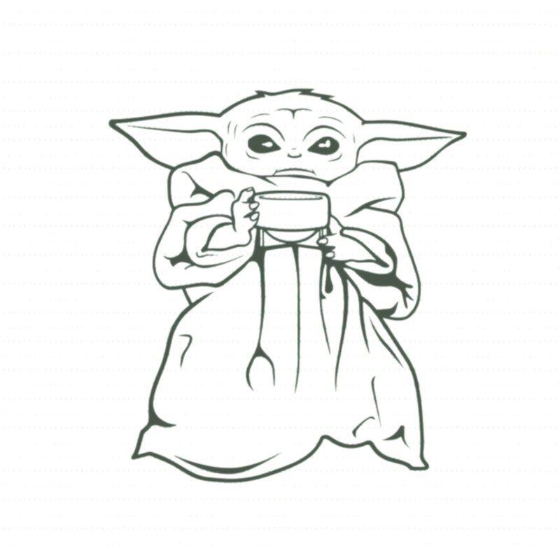 Baby Yoda Svg The Mandalorian The Child Baby Yoda Png Star Wars Svg Png The Child Png T Shirt Template Yoda Png Yoda Drawing Yoda Art