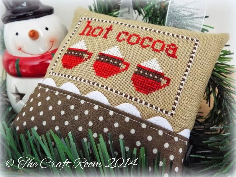 JCS 2013 Ornament Issue - Hot Cocoac cross stitched pin pillow ...