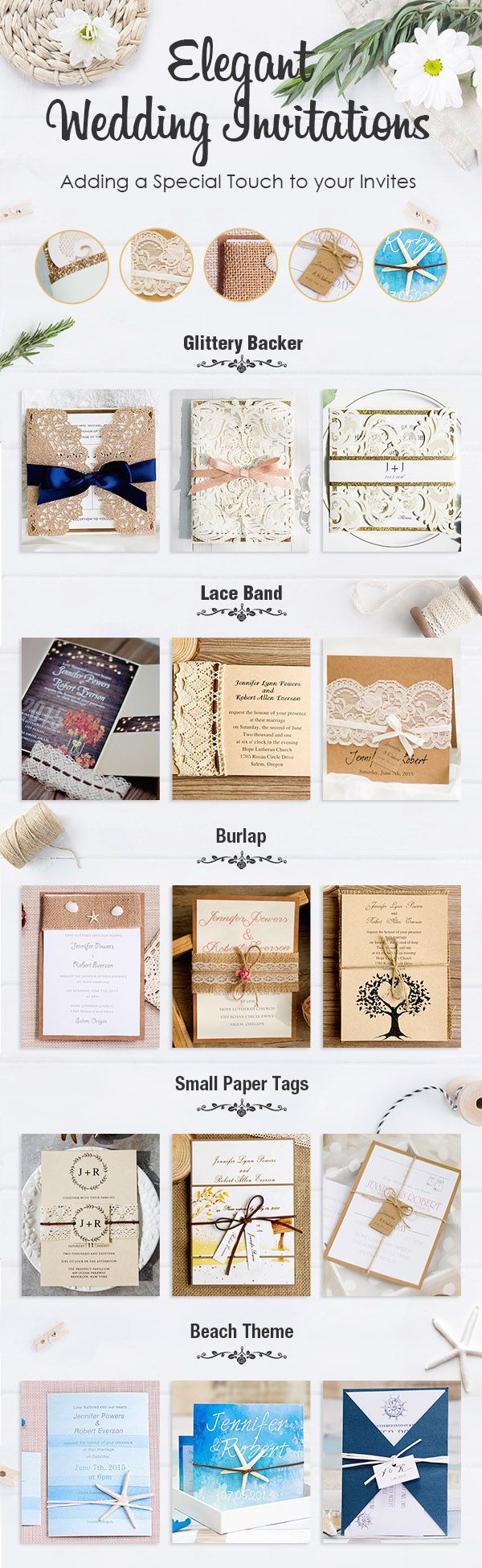 inexpensive rustic laser cut wedding invitation with tag EWWS040 as ...