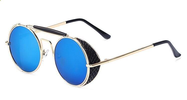 d0a4a0868d Vintage Sunglasses Trends - Peekaboo top quality vintage sunglasses men  women brand gold metal flat top