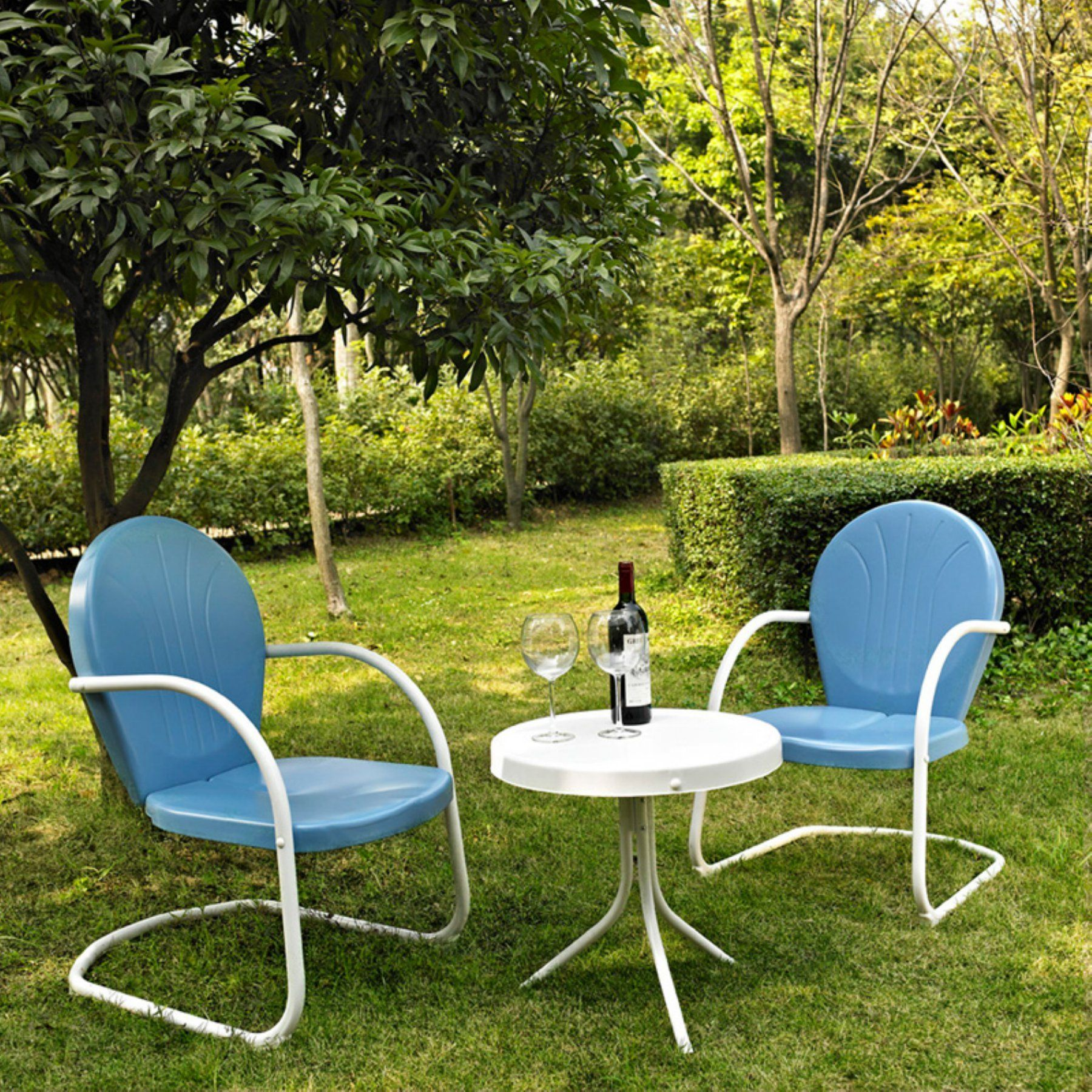Crosley Griffith 3 Piece Metal Outdoor Conversation Set