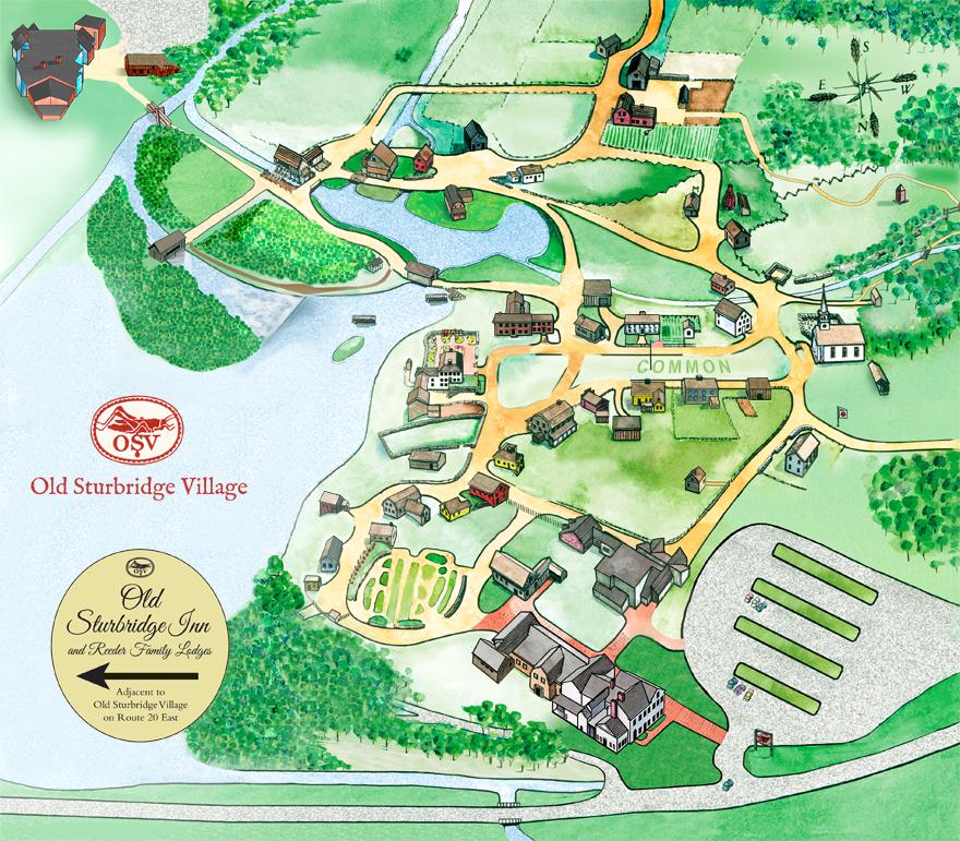 Old Sturbridge Village Village Map Take A Free Virtual