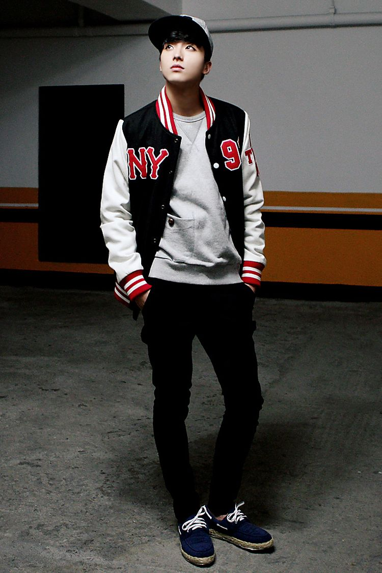Baseball Jacket Menstyle Mensfashion Kfashion Korean Fashion Men Asian Men Fashion Korean Fashion