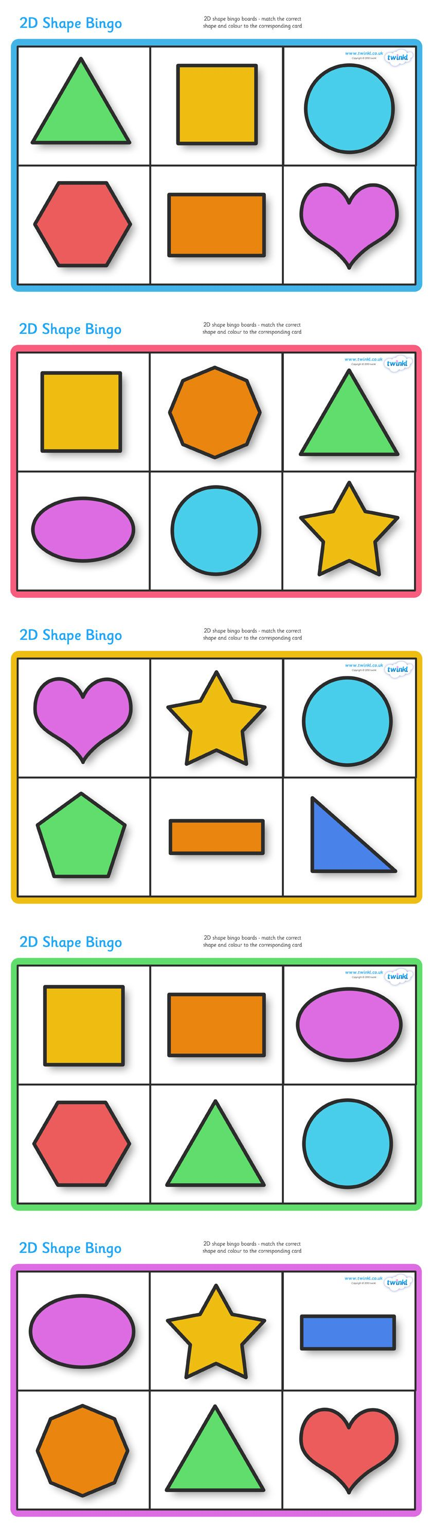 Christmas colouring in sheets twinkl - Twinkl Resources 2d Shape Bingo Classroom Printables For Pre School