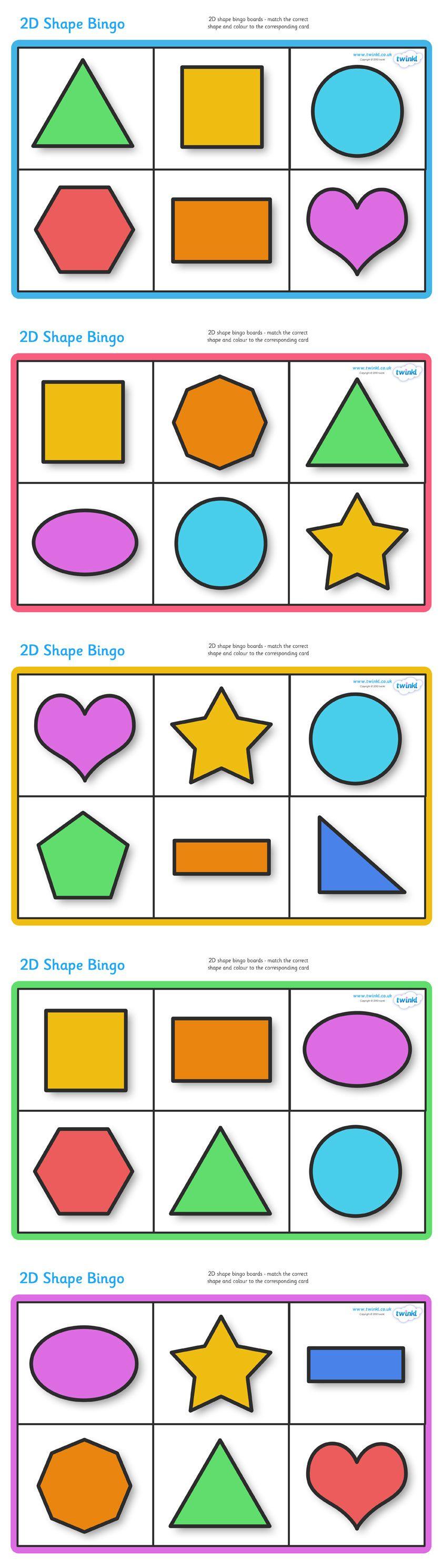 twinkl resources gtgt 2d shape bingo gtgt classroom printables