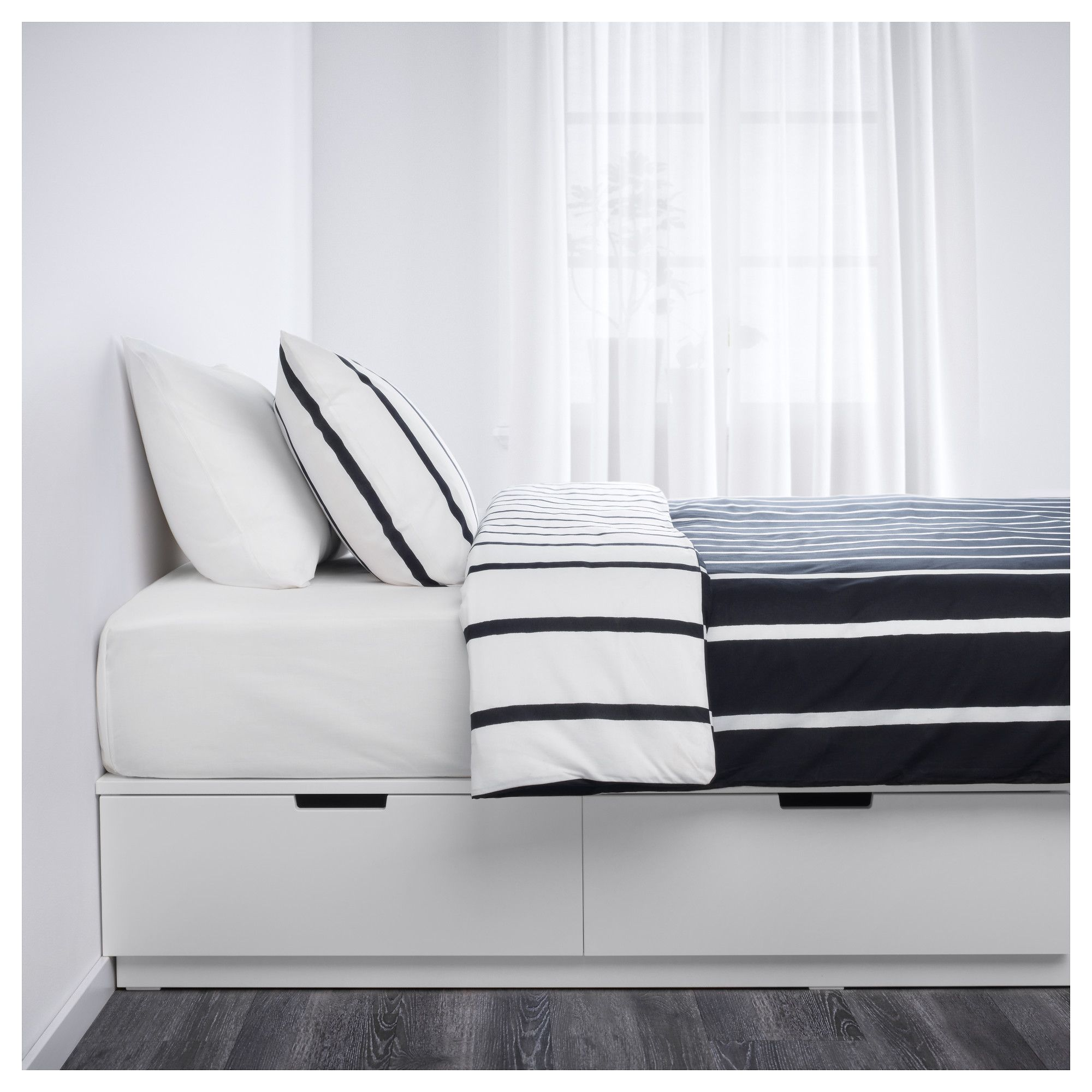 Nordli Bed Frame With Storage White 140x200 Cm Ikea Bed Frame With Storage Ikea Bed Bed Frame With Drawers