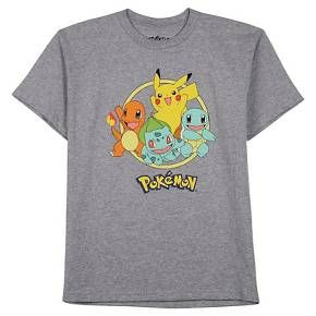 Boys' Pokeman Tee Shirts Gray